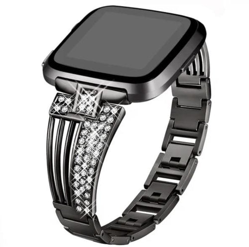 Stainless Steel  With Rhinestone Wristbands For Fitbit Versa