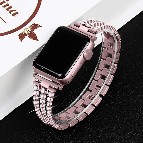 Eleanor - Stainless Steel Band Compatible With Apple Watch - Elegance & Splendour