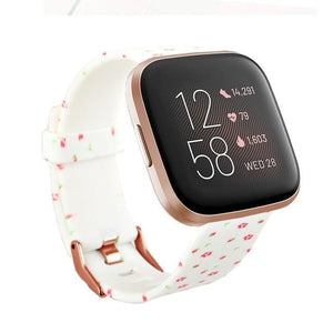 New Print Flower Silicone Replacement  Wristband For Fitbit Versa 2/Versa Lite/Versa - Elegance & Splendour