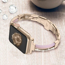 Load image into Gallery viewer, Sleek Metal Resin & Rhinestone Bracelet Compatible With Apple Watch - Elegance & Splendour