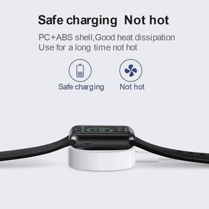 Apple Watch + iPhone - 2 in 1 Wireless 1 Meter Magnetic Charger Cable - A Must To Have! - Elegance & Splendour