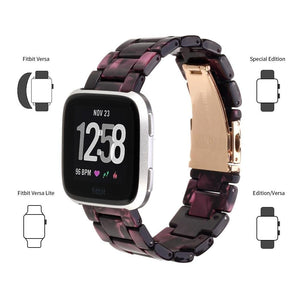 High Quality Resin Replacement Wristband For All Fitbit Versa/Versa 2/Versa Lite - Elegance & Splendour