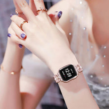 Load image into Gallery viewer, Rhinestone Double Circle Smart Strap For Fitbit Versa - Elegance & Splendour