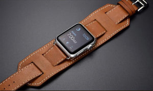 Premium Leather Loop Band Compatible With Apple Watch - Elegance & Splendour