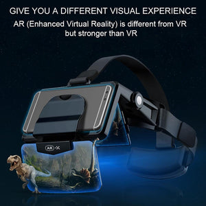 VR Headset -FIIT VR AR-X Helmet -Headphones Virtual Reality 3D Glasses - Elegance & Splendour