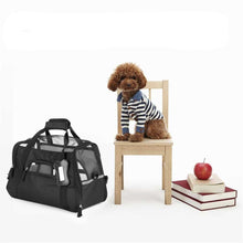 Load image into Gallery viewer, Pet Carrier-600D Nylon Waterproof Dog /Cat/Puppy/Kitten Travel Bag - Elegance & Splendour