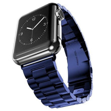 Load image into Gallery viewer, Radiant Royal Stainless Steel Metal Band For Apple Watch - 10 Colors - Elegance & Splendour