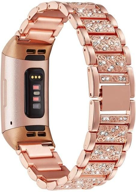 Bling Diamond Fitbit Bands For Charge 2 & Charge 3 - Elegance & Splendour