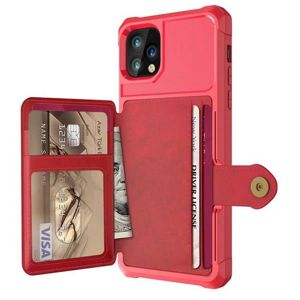 iPhone Wallet Case - Leather Flip Wallet Case With Card Holder - Elegance & Splendour