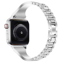 Load image into Gallery viewer, Premium Ceramic Diamond Band Compatible With Apple Watch - Elegance & Splendour