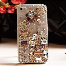 Load image into Gallery viewer, Luxury Diamond Eiffel Tower Perfume Bling Case For iPhone - Elegance & Splendour