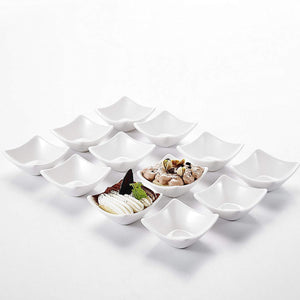 "12-Pieces 3"" Porcelain Ceramic Dessert Cream Dipping Bowl - Elegance & Splendour"