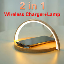 Load image into Gallery viewer, Mobile Phone Wireless Charger + An Exclusive Night Light Table Lamp - Elegance & Splendour