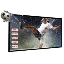 Load image into Gallery viewer, Projector Screen- 60''-150'' Portable Back Projector HD 16:9 Home Theater Screen - Elegance & Splendour