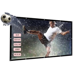 Projector Screen- 60''-150'' Portable Back Projector HD 16:9 Home Theater Screen - Elegance & Splendour