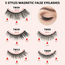 Load image into Gallery viewer, Magnetic Eyelashes Kit-5 Pairs with Double Eyeliner & Applicator - Elegance & Splendour