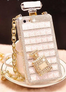 Luxury Diamond Mobile Case For Samsung With Lanyard Chain - Elegance & Splendour
