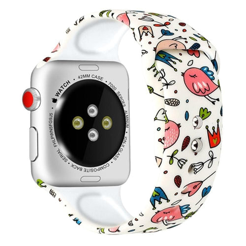 Sporty Printing Style Silicone Strap For Apple Watch - Elegance & Splendour