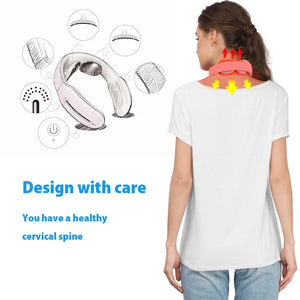Smart Electric Neck and Shoulder Massager-Low Frequency Magnetic Therapy - Elegance & Splendour