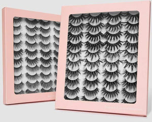 16/20 Pairs 3D Mink False Eyelashes Natural Look - Elegance & Splendour