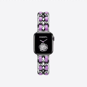 Florentine-Stainless Steel luxury Strap Compatible With Apple Watch - Elegance & Splendour
