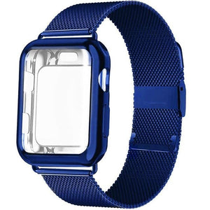 New Milanese Loop Band + Case Compatible With Apple Watch - Elegance & Splendour