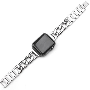Link Bracelet Stainless Steel Band Compatible With Apple Watch - Elegance & Splendour