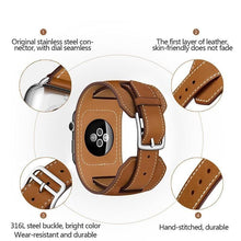 Load image into Gallery viewer, Quadra-Leather Loop Link Band Compatible With Apple Watch - Elegance & Splendour