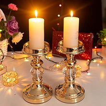 Load image into Gallery viewer, Luxury Gold Pillar Tea Light Metal Candle Holders - Elegance & Splendour