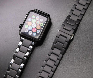 Sandblasting Matte Ceramic Band Compatible With Apple Watch - All Series - Elegance & Splendour