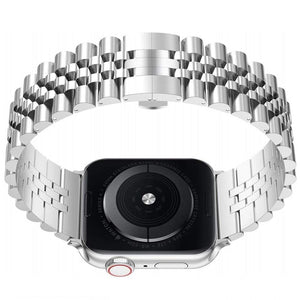 Luxury Stainless Steel Link Bracelet Compatible With Apple Watch - Elegance & Splendour