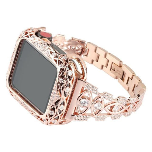 New Zircon Rhinestone Strap + Case Compatible With Apple Watch - Elegance & Splendour