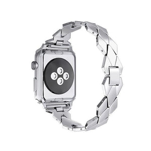 Correa Stainless Steel Strap Compatible With Apple Watch - Elegance & Splendour