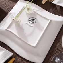 Load image into Gallery viewer, 60-Piece White Porcelain Dinner Set, Service for 12 Persons - Elegance & Splendour