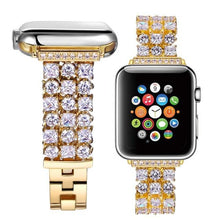 Load image into Gallery viewer, Handmade Luxury Rhinestone Plated Band Compatible With Apple Watch - Elegance & Splendour