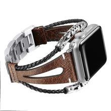 Load image into Gallery viewer, Vintage Elegant Natural Genuine Leather Loop Band Compatible With Apple Watch - Elegance & Splendour