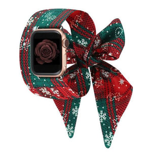 Fashion Scarf Strap Compatible With Apple Watch - Elegance & Splendour