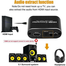 Load image into Gallery viewer, HDMI 2.0 Audio Extractor With 5.1 ARC - Elegance & Splendour