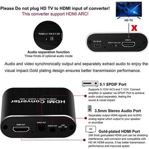 HDMI 2.0 Audio Extractor With 5.1 ARC - Elegance & Splendour