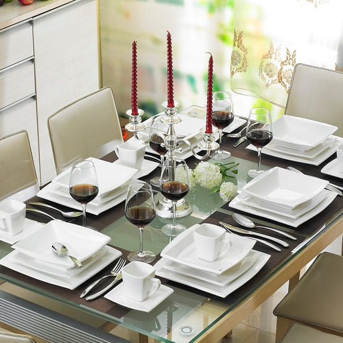 30-Piece Elegant Porcelain Tableware Dinner Set -Service for 6 Person - Elegance & Splendour