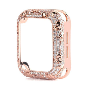 Armor Carved Diamond Protective Case Compatible With Apple Watch Series 6 5 4 3 SE - Elegance & Splendour