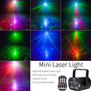 Mini RGB Disco Light Laser Stage Projector - Elegance & Splendour