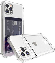 Load image into Gallery viewer, Shockproof Clear iPhone Case With Card Holder - Elegance & Splendour