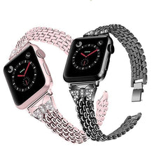 Load image into Gallery viewer, Exclusive Diamond Steel Strap For Apple Watch - Elegance & Splendour