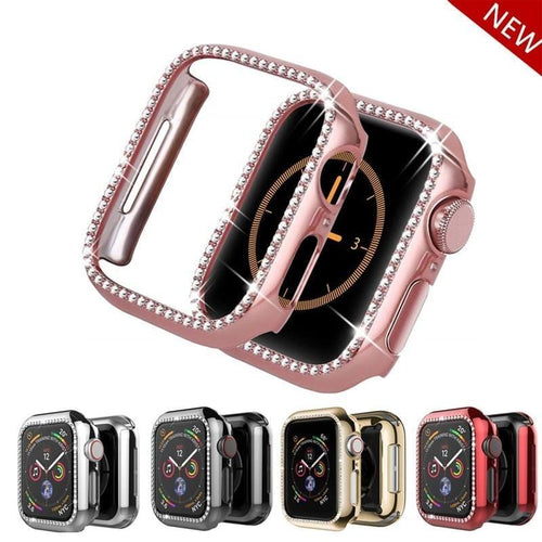 Quasar Protective Diamond Case Compatible With Apple Watch - Elegance & Splendour