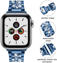 Load image into Gallery viewer, Diamond Stainless Steel Wristband Bracelet With Glass Case - Elegance & Splendour