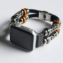 Load image into Gallery viewer, Vintage Leather Bracelet Compatible With Apple Watch - Elegance & Splendour