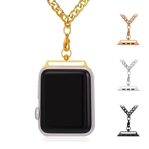 High Quality Gold Color Link Chain Necklace For Apple Watch