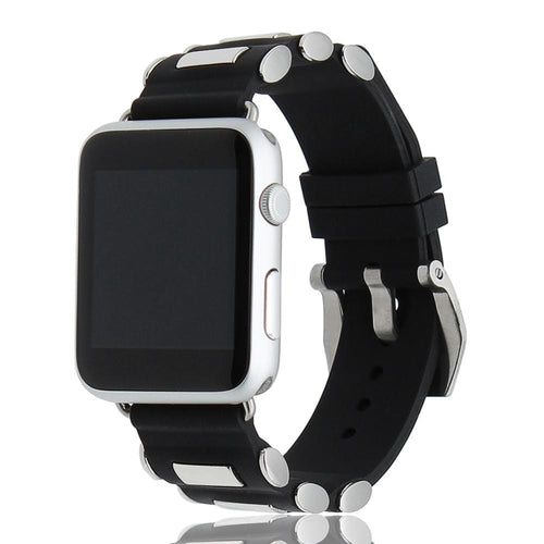 Tang Buckle Silicone Rubber Watchband For Apple Watch