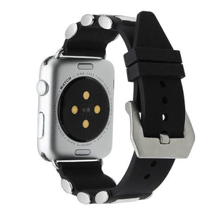 Tang Buckle Silicone Rubber Watchband For Apple Watch - Elegance & Splendour